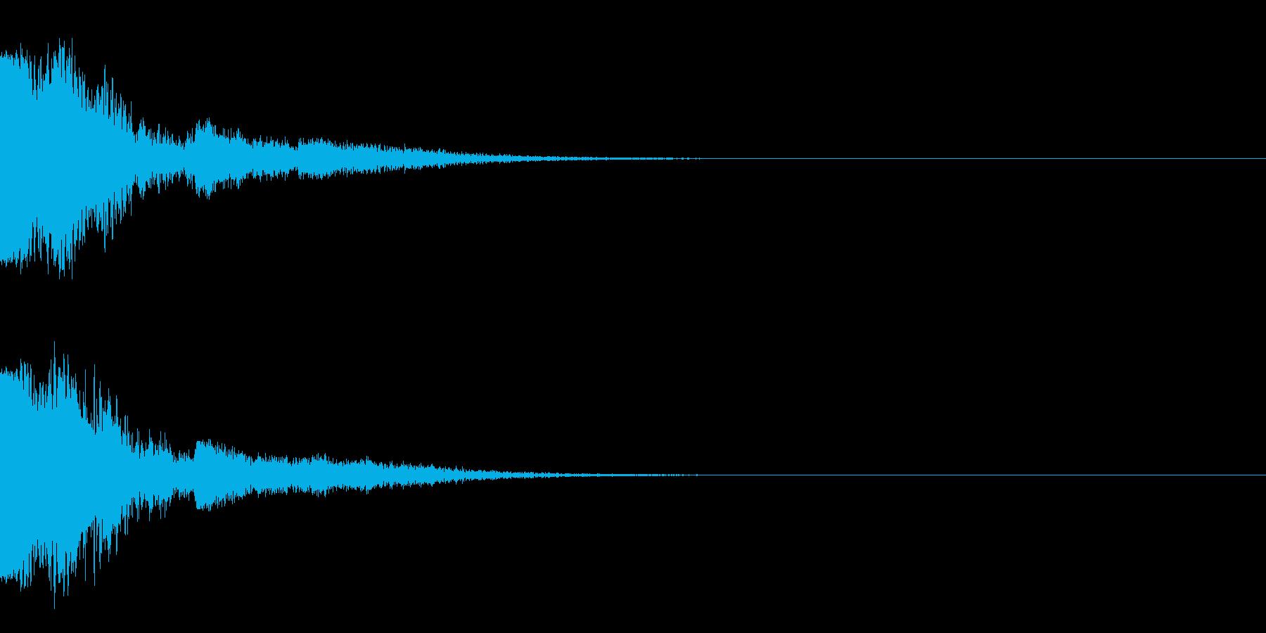 ピュー~(エレキギター下降スライド)の再生済みの波形