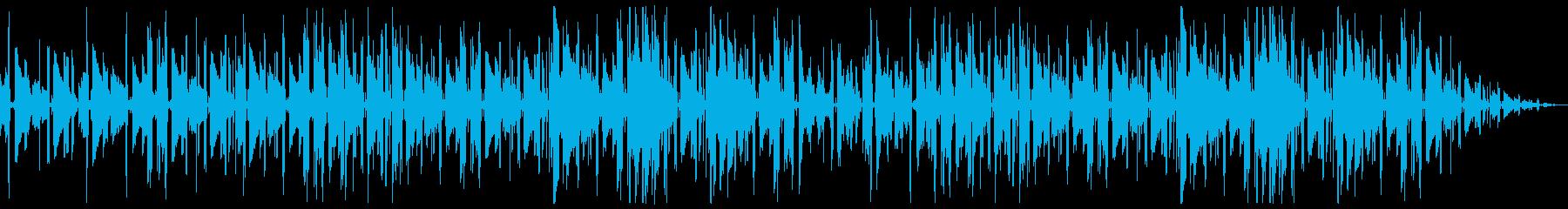 切ないネオソウルギター主体のチルホップの再生済みの波形