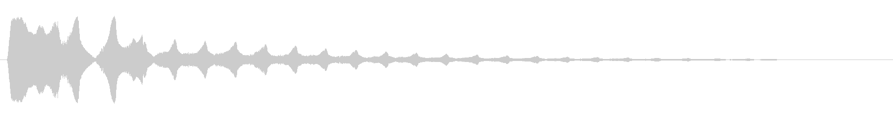 キラーン(金属系音)高音の未再生の波形