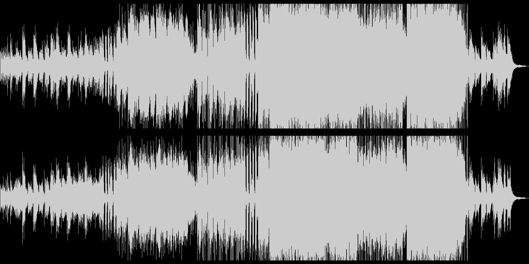 壮大で優しいクリスマスBGMの未再生の波形