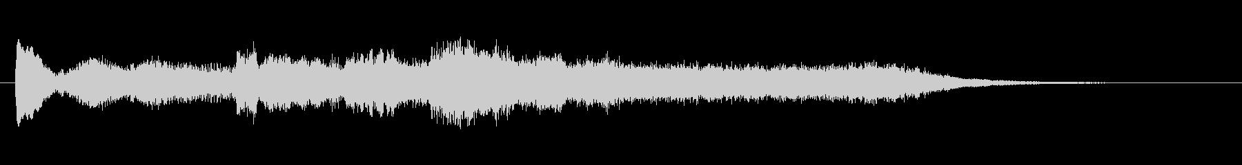 荘厳な電子音のサウンドロゴの未再生の波形