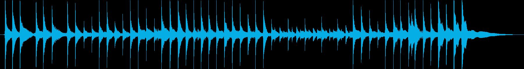 津軽三味線1(生録音15s)の再生済みの波形