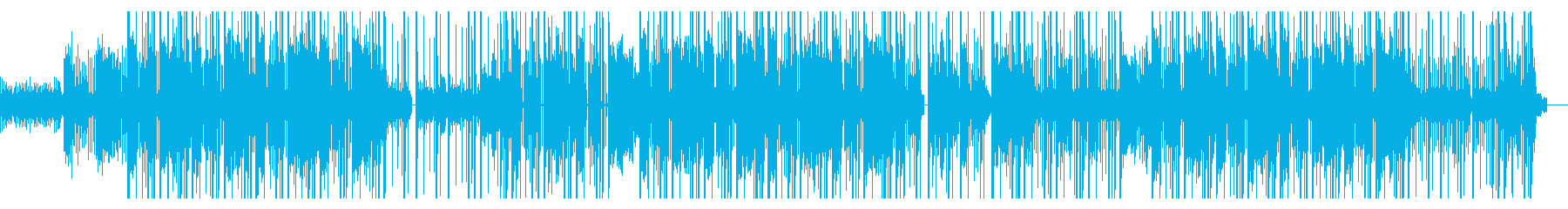 ダーク/ハードでノイジーなヒップホップの再生済みの波形