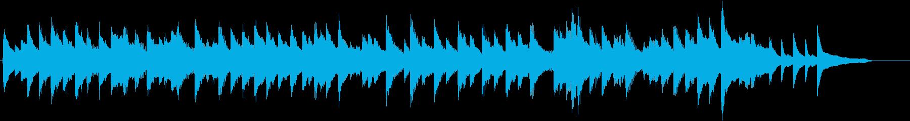 童謡・夕焼小焼モチーフのピアノジングルDの再生済みの波形