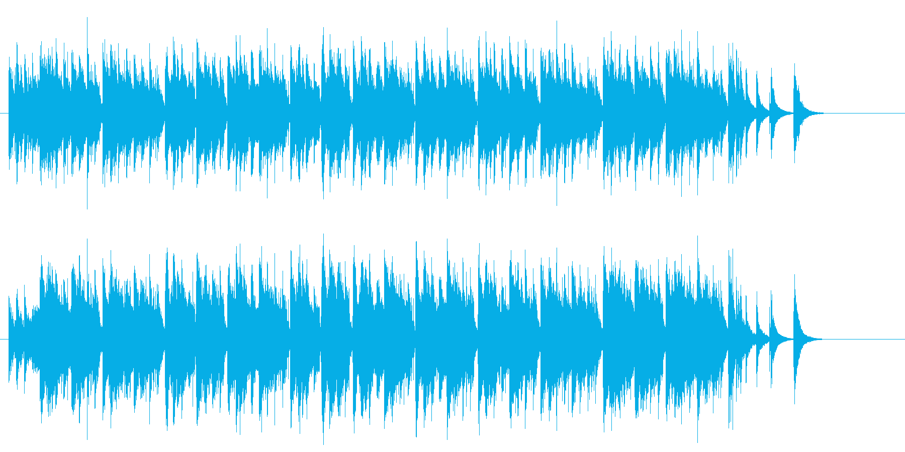 コミカルでマジカルな中国風サウンドの再生済みの波形