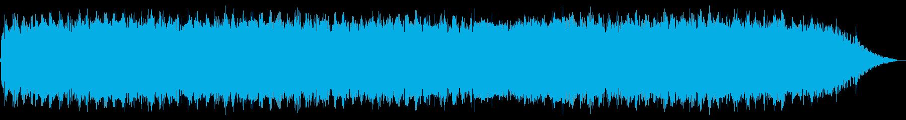 ゆったりとした風の笛の音楽の再生済みの波形