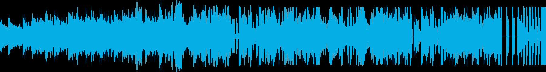 疾走感あるEDM楽曲の再生済みの波形