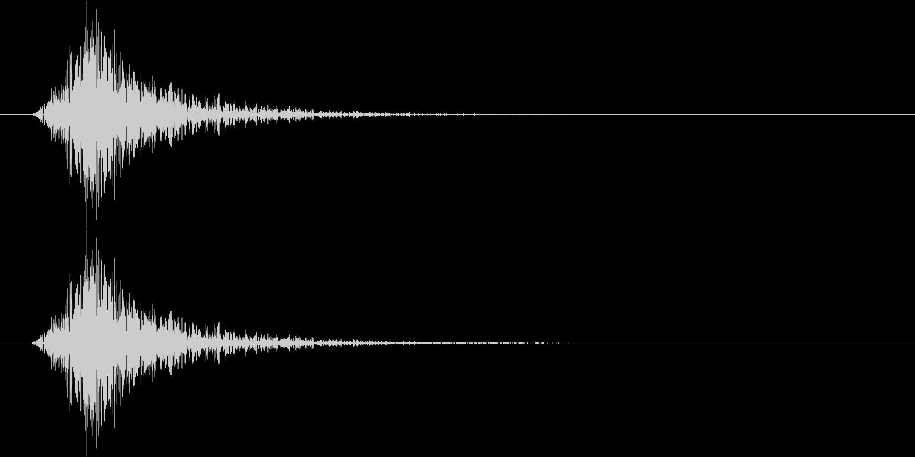 【SE】風切り音02(シュー 短め弱い)の未再生の波形