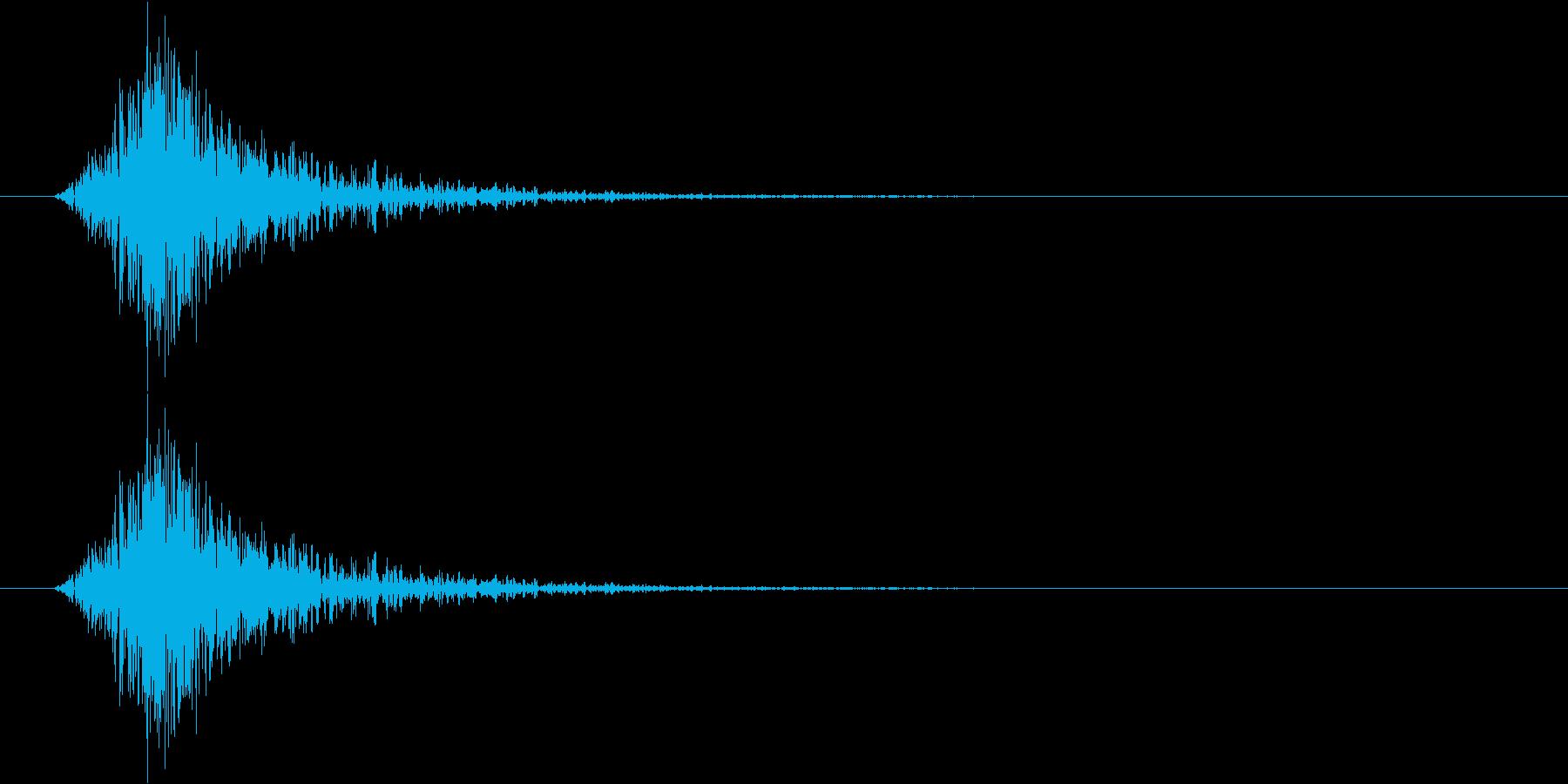 【SE】風切り音02(シュー 短め弱い)の再生済みの波形