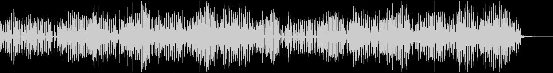 ミステリアスなエレクトロミュージックの未再生の波形