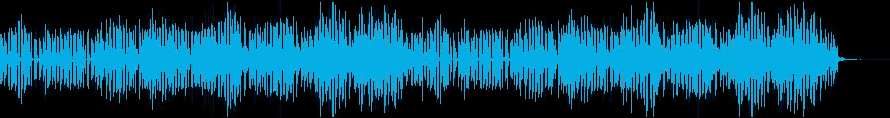 ミステリアスなエレクトロミュージックの再生済みの波形