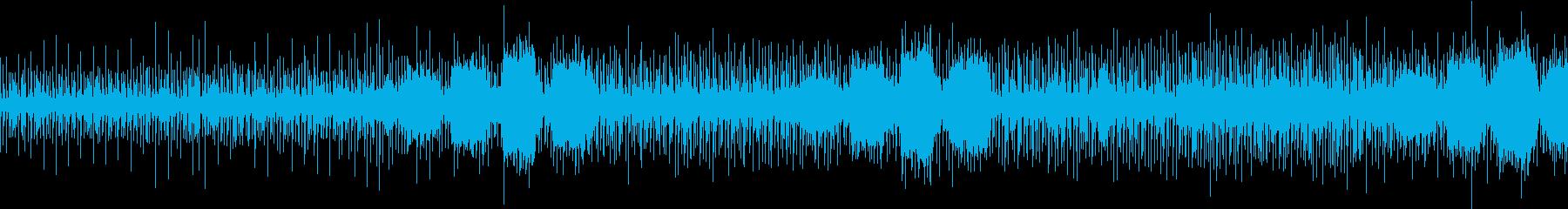 アフリカの儀式っぽい音楽の再生済みの波形