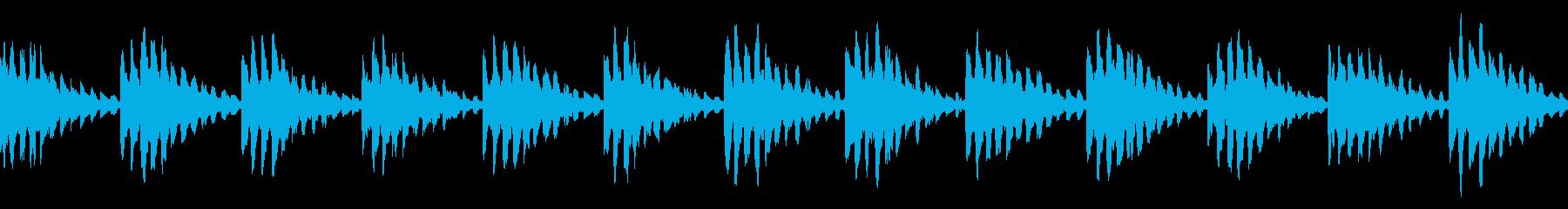 シンキングタイム シンセ 保留音 ループの再生済みの波形