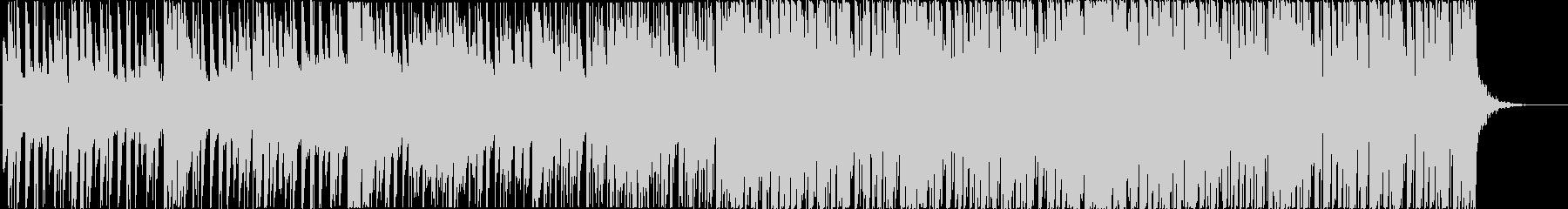 リズミカルなトロピカルハウスBGMの未再生の波形