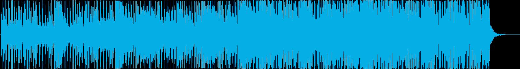 リズミカルなトロピカルハウスBGMの再生済みの波形
