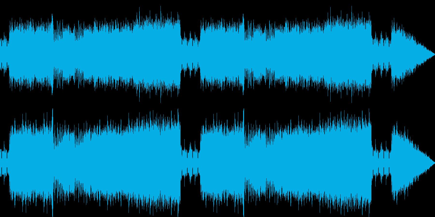 懐かしい雰囲気のバトルBGMの再生済みの波形