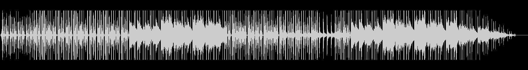 お洒落な映像作品向け雨音イメージのBGMの未再生の波形