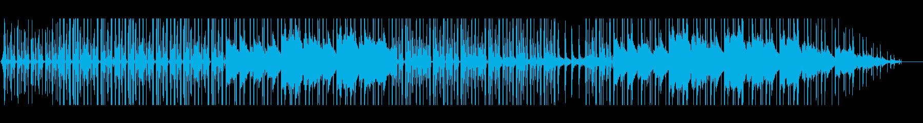 お洒落な映像作品向け雨音イメージのBGMの再生済みの波形
