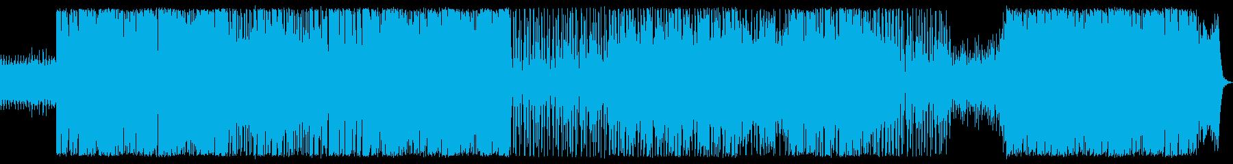 ファンキーで現代的なダンスミュージックの再生済みの波形