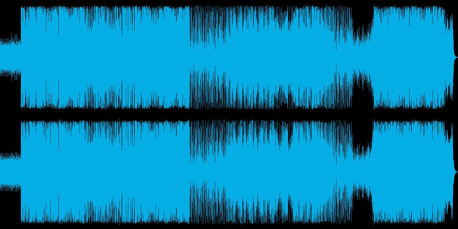 重いワウギターライン、ブラス、フル...の再生済みの波形