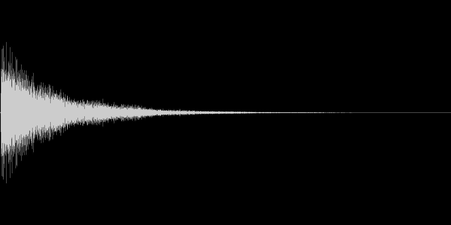 電子系の選択音の未再生の波形