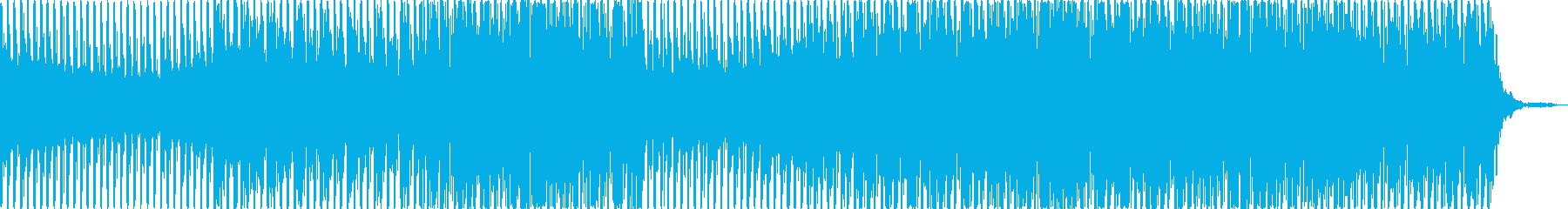 宇宙や夜空をゆっくり舞うテクノポップの再生済みの波形