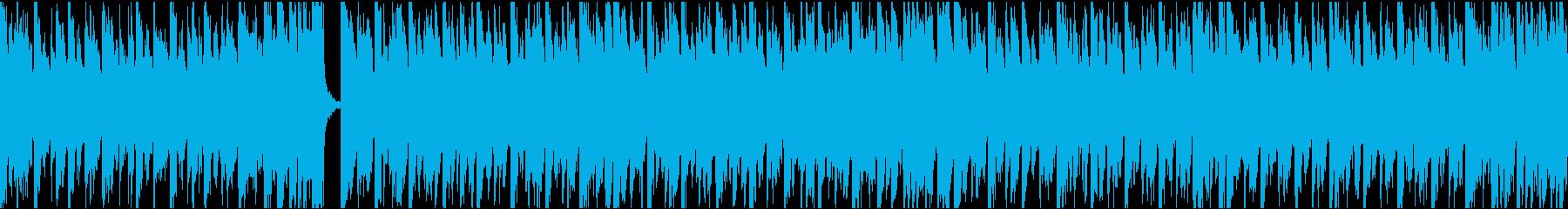 13秒でサビ、電子音ダーク/ループの再生済みの波形