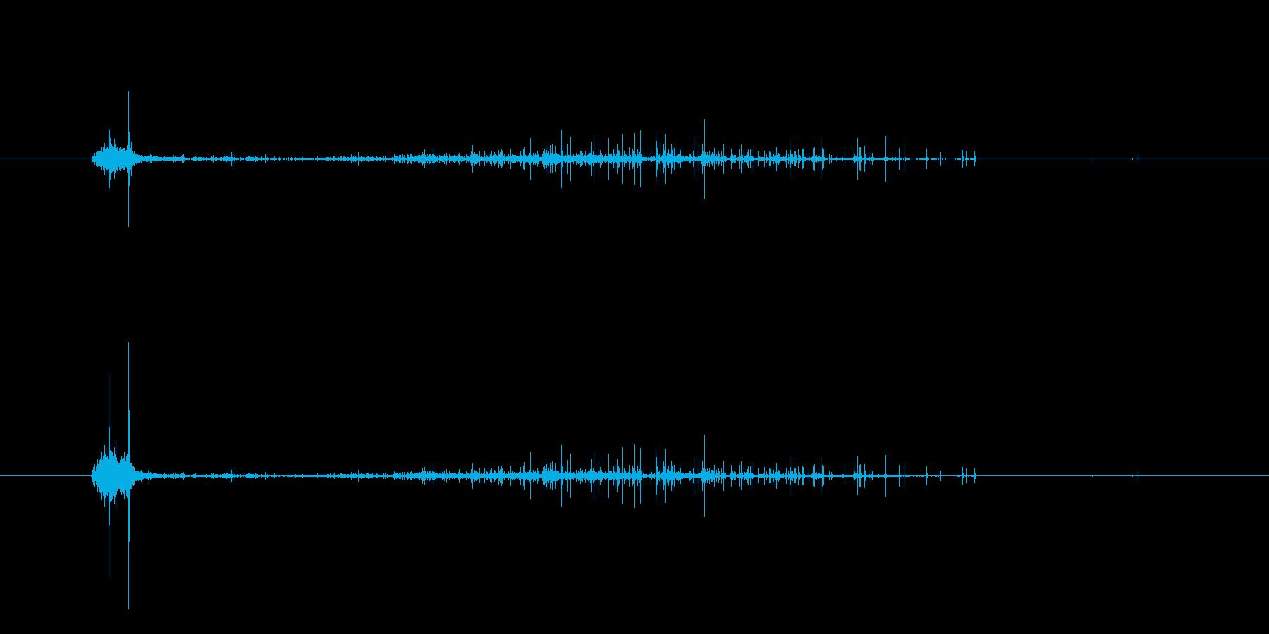 シャ…シュボボ…マッチ棒着火の再生済みの波形