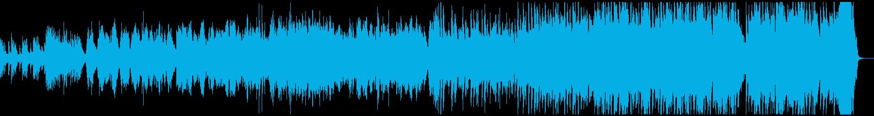バイオリンとピアノの情熱的なバラードの再生済みの波形