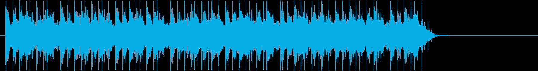 ワイルドで重厚感あるパンクロックジングルの再生済みの波形