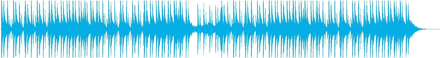 ピアノと環境音のチルの再生済みの波形