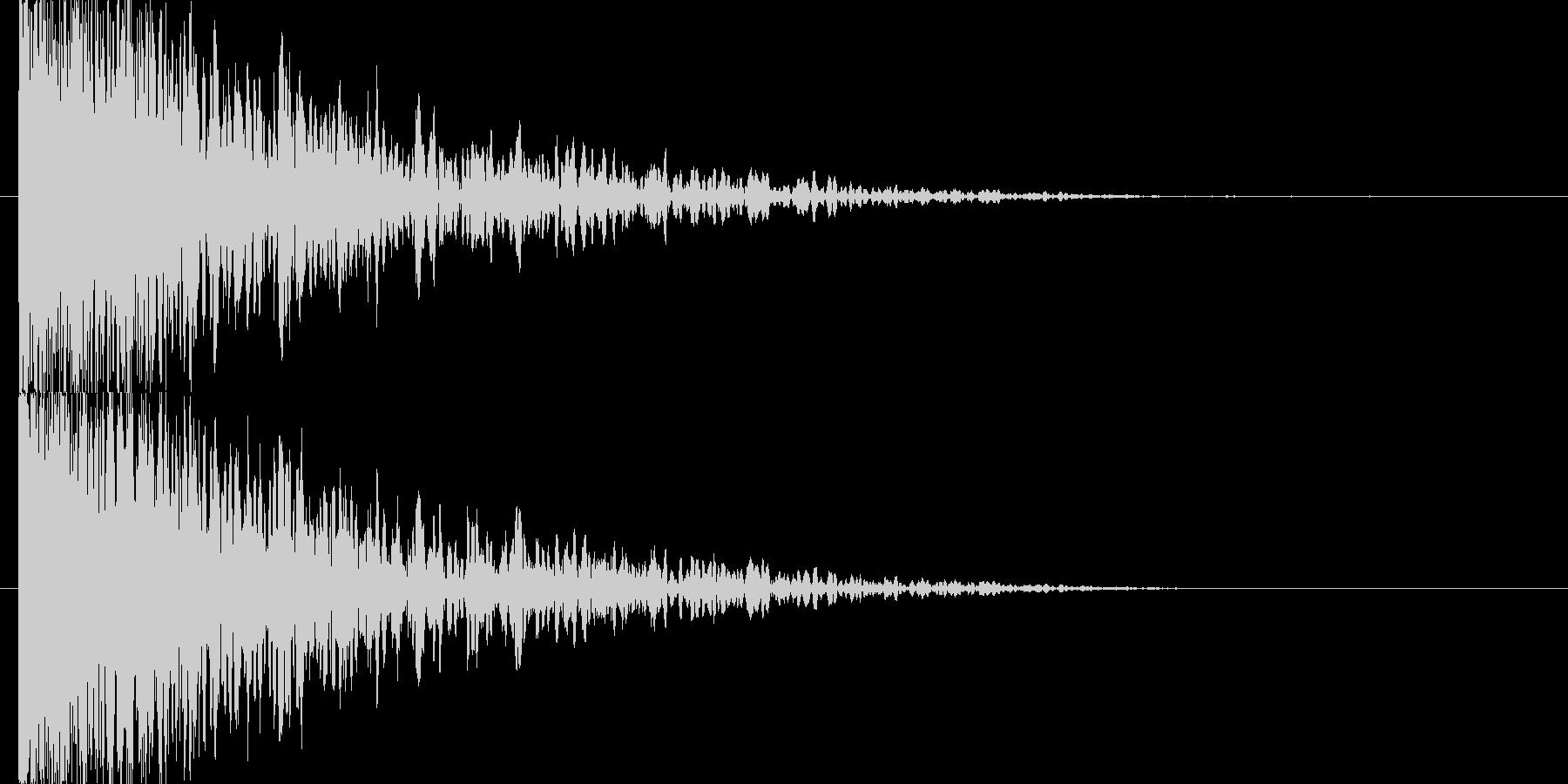 衝突音 爆発の未再生の波形