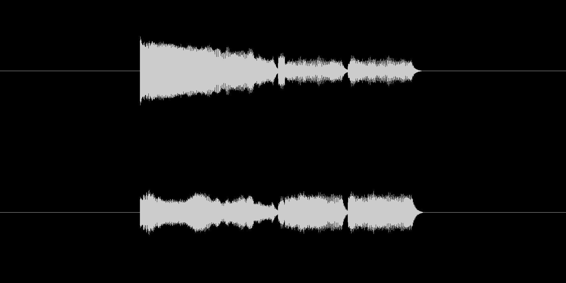 「12」を表す音のカウンターですの未再生の波形