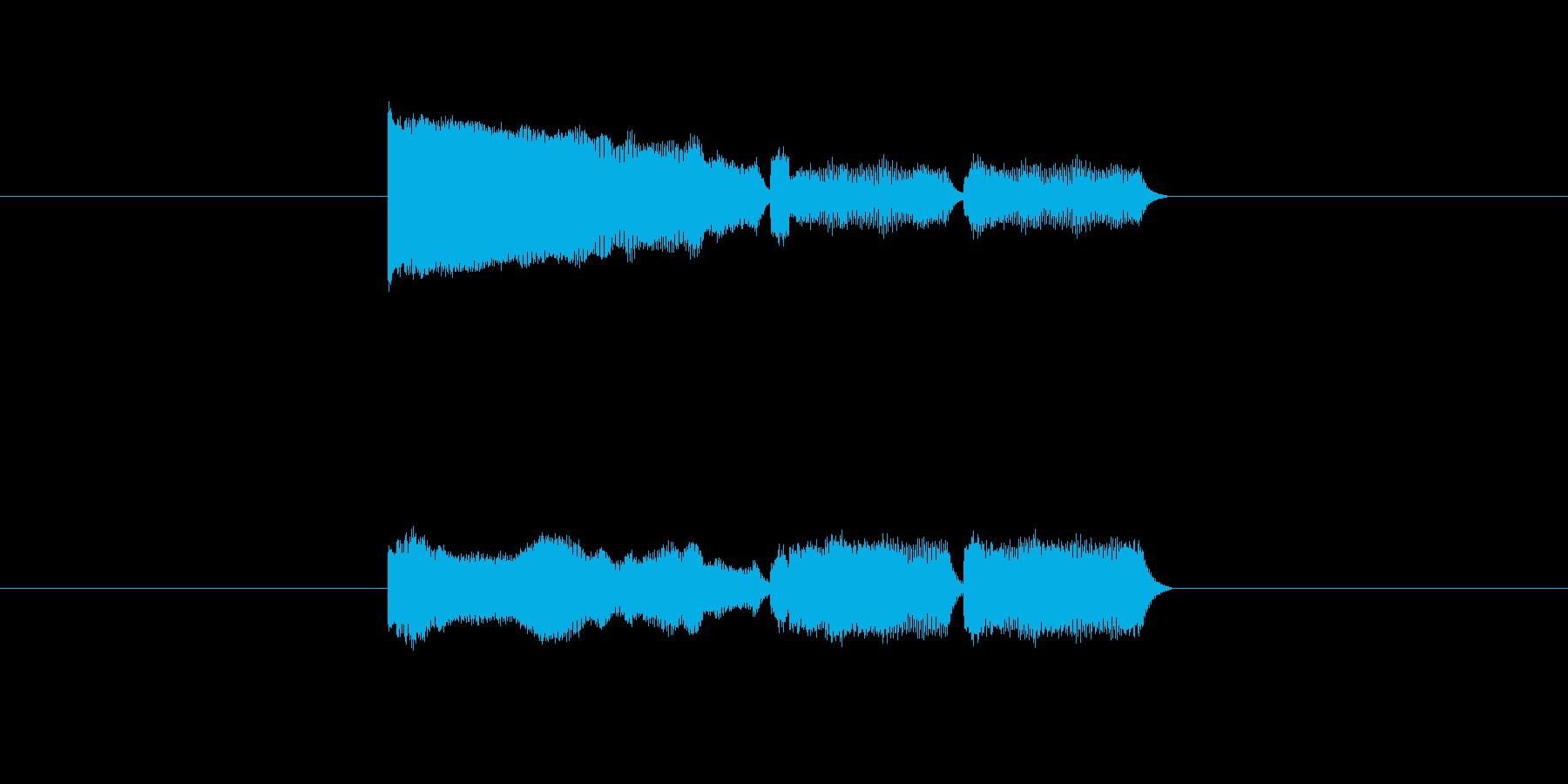 「12」を表す音のカウンターですの再生済みの波形