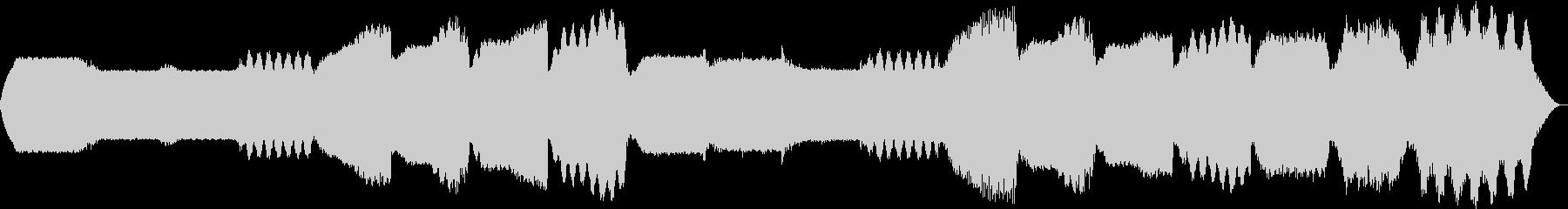 幻想的なシンセサイザーの背景BGMの未再生の波形