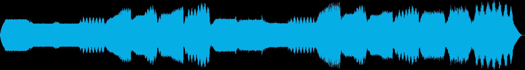 幻想的なシンセサイザーの背景BGMの再生済みの波形
