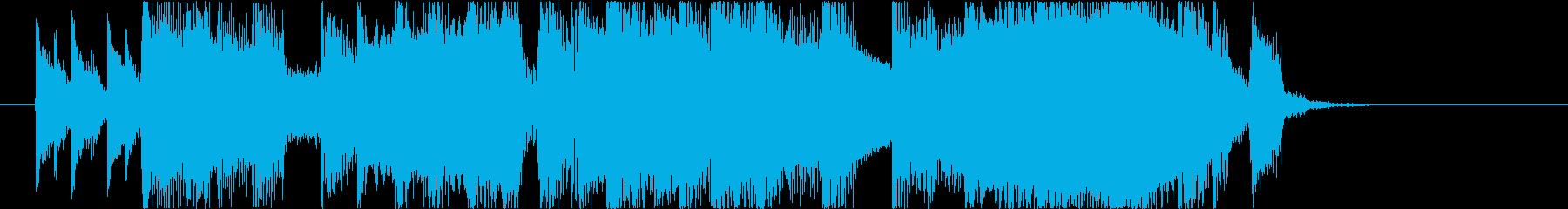 【南国効果音】砂浜を走るの再生済みの波形
