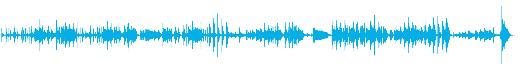 ほのぼのコミカルサスペンスの再生済みの波形