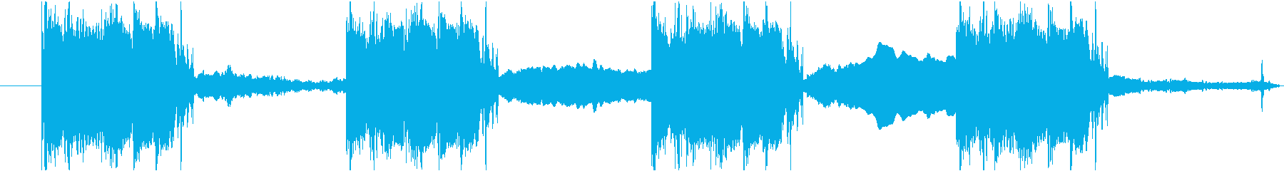 かわいくて怖いショートBGMの再生済みの波形