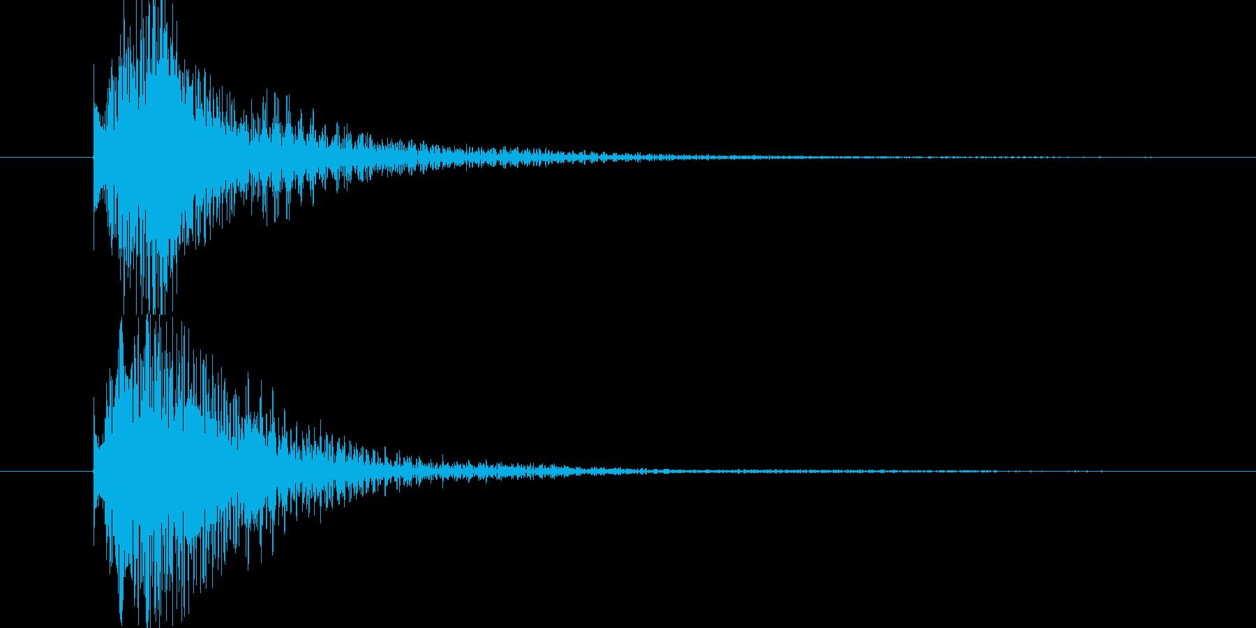 明るい雰囲気のロゴサウンドの再生済みの波形