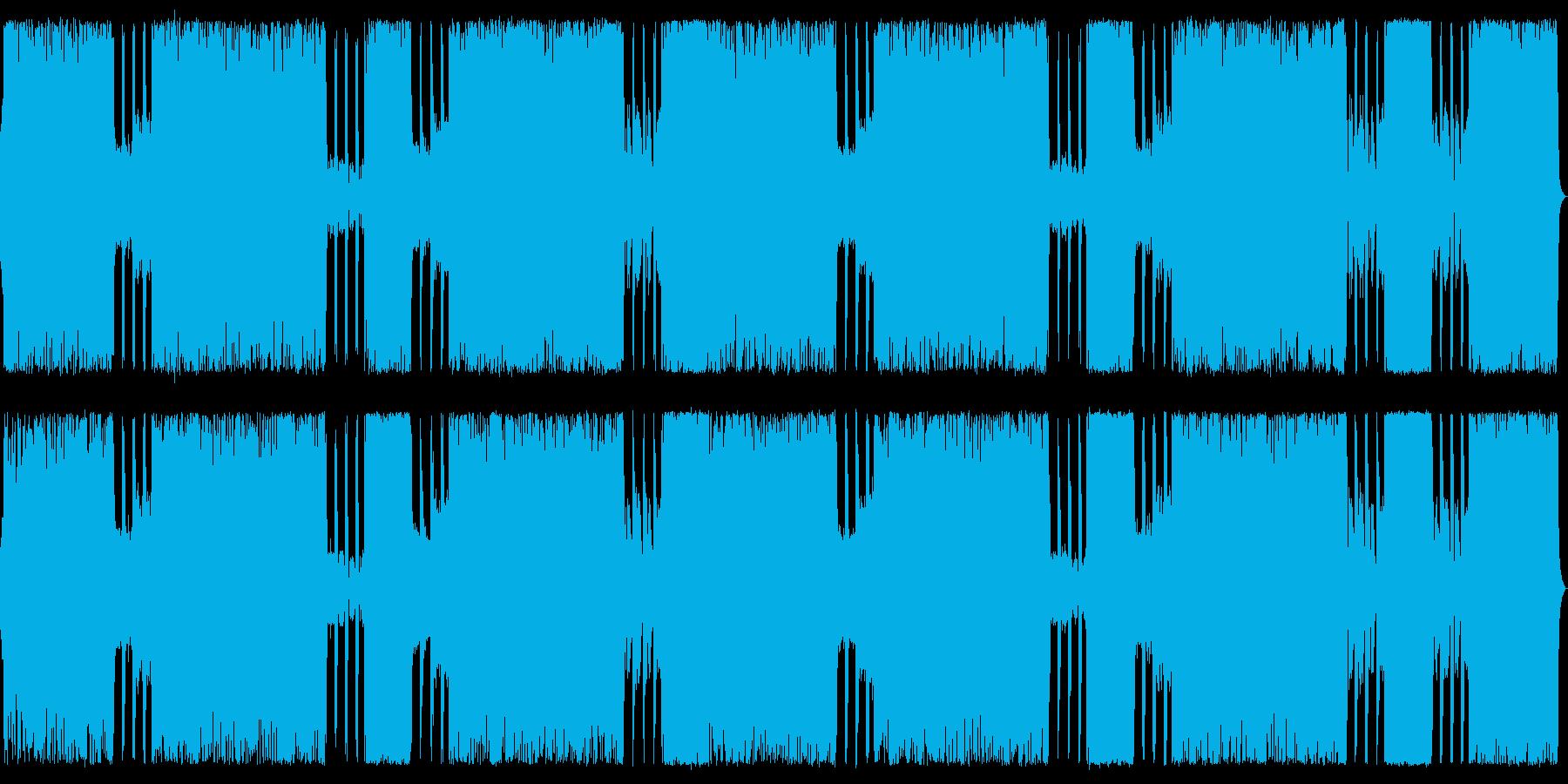 ゴシックメタルな戦闘BGMの再生済みの波形