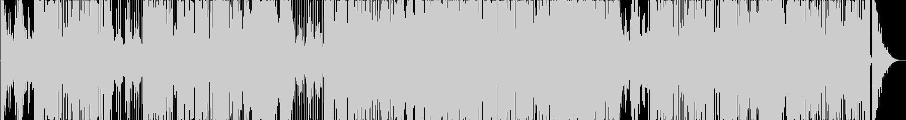映像用軽快なファンキージャズの未再生の波形