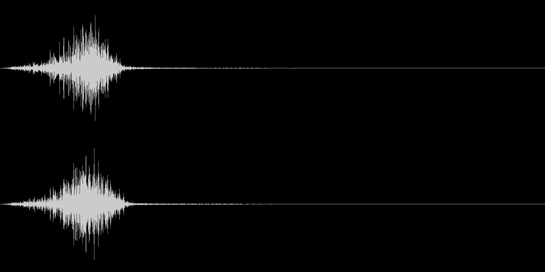 ゾンビ 発声 16の未再生の波形