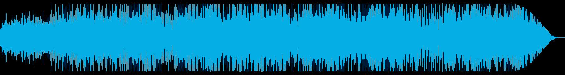 うきうき気分なアコースティック曲の再生済みの波形