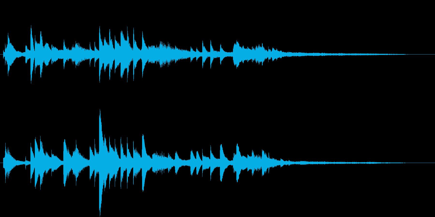 おしゃれな ピアノのジングルの再生済みの波形