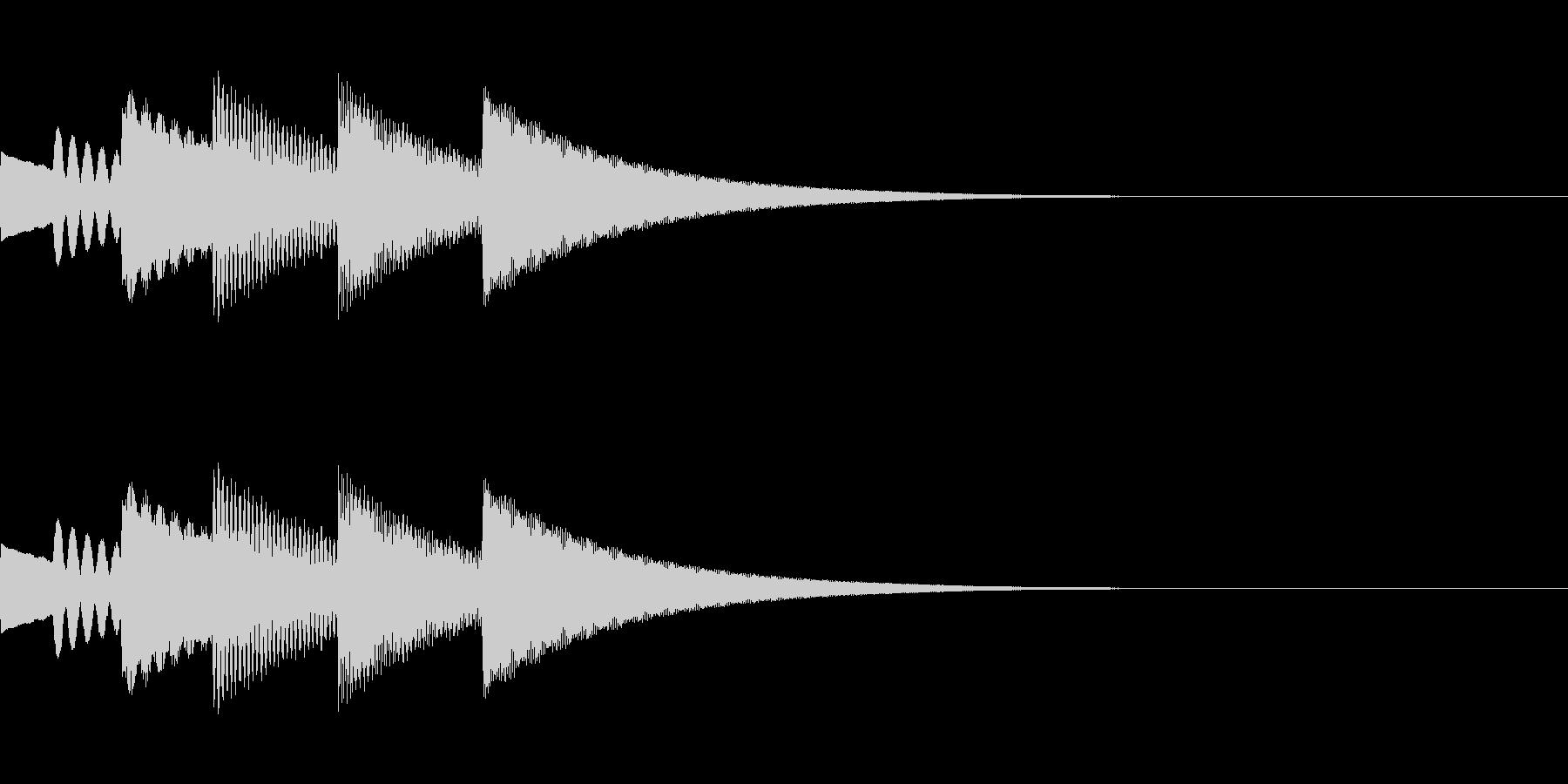 FX・SE/金属/スクロール/流れる音Gの未再生の波形