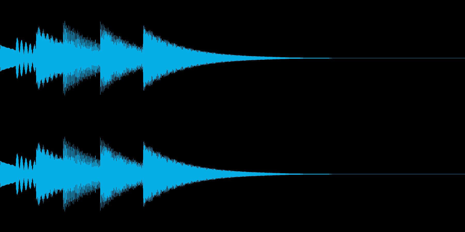 FX・SE/金属/スクロール/流れる音Gの再生済みの波形