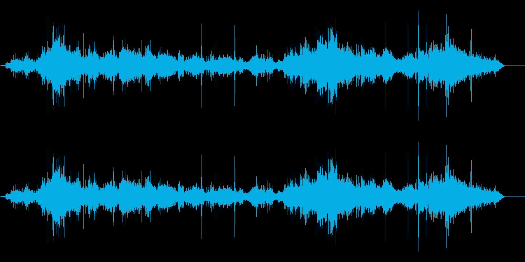 大きい波の再生済みの波形