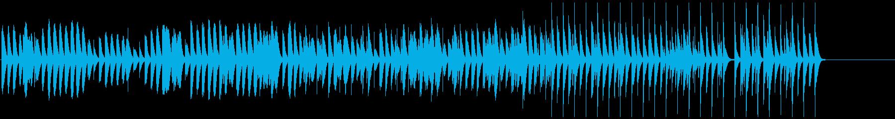 日常をイメージした明るい曲の再生済みの波形