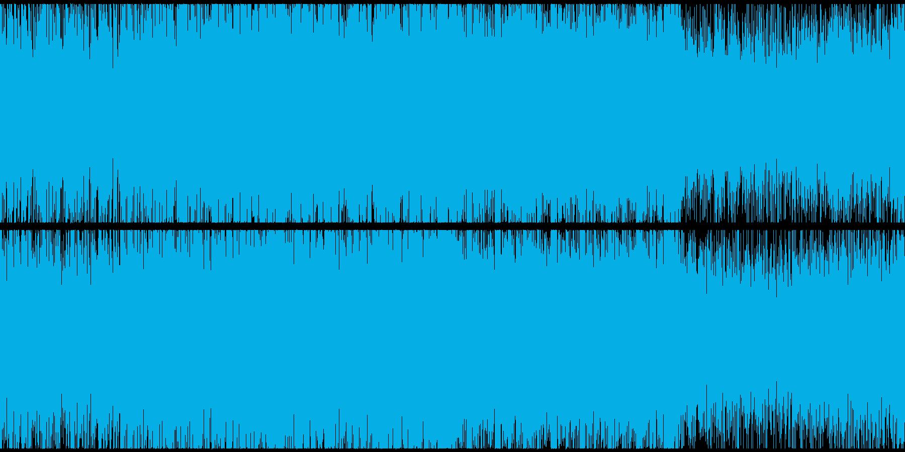 ダークなサスペンスシネマ風サウンドループの再生済みの波形
